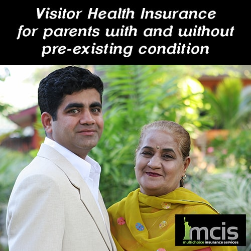 Visitors health insurance for parents with and without pre existing conditions image